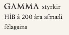 GAMMA styrkir HÍB á 200 ára afmæli félagsins.